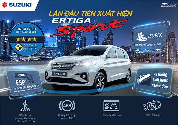 Xe 7 chỗ mới tầm giá 600 triệu đồng đổ bộ thị trường Việt Nam: Suzuki Ertiga Sport
