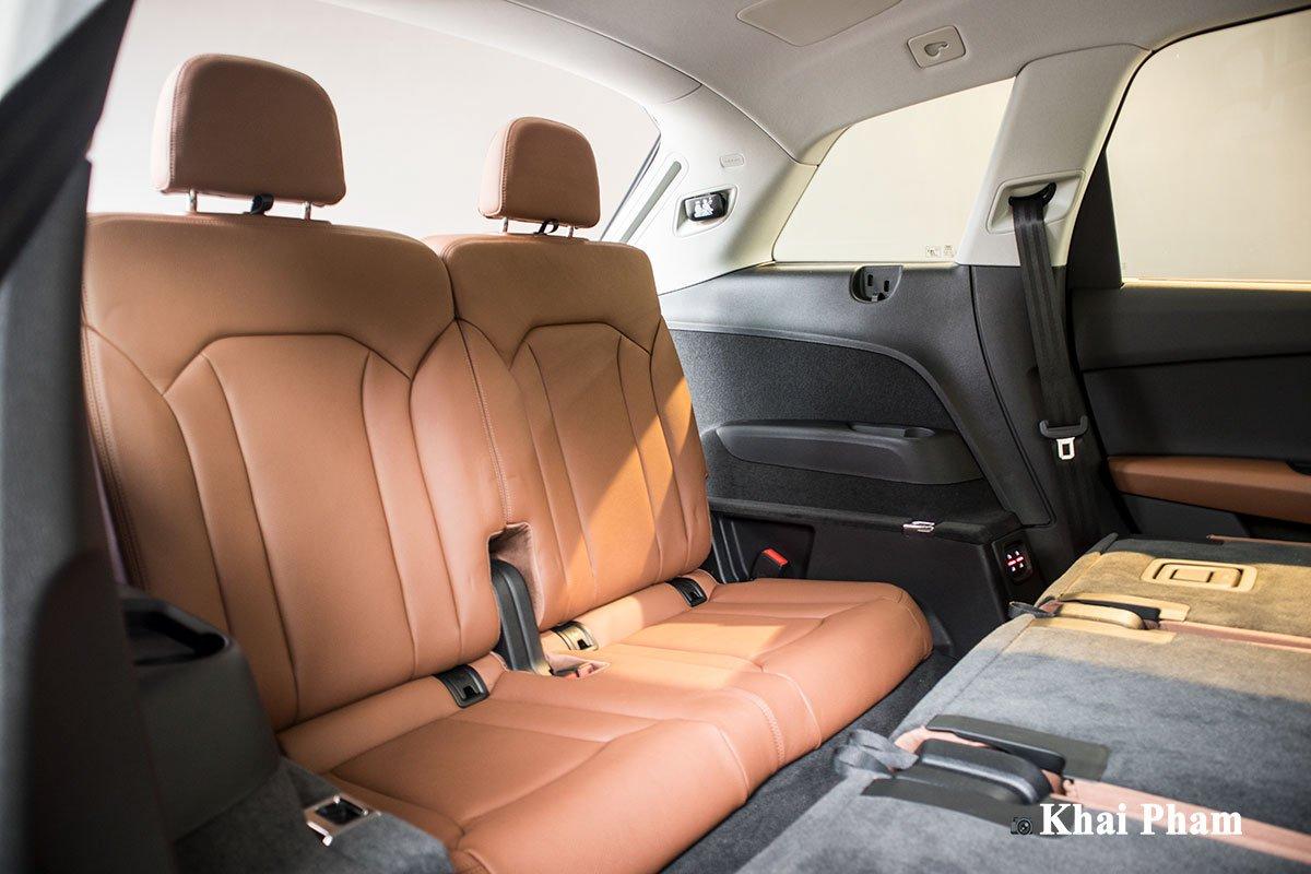 Ảnh ghế cuối xe Audi Q7 2020