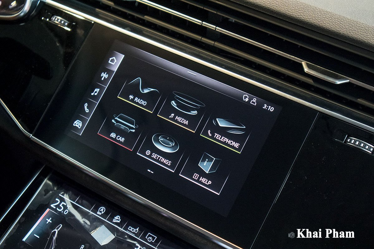 Ảnh màn hình giải trí xe Audi Q7 2020