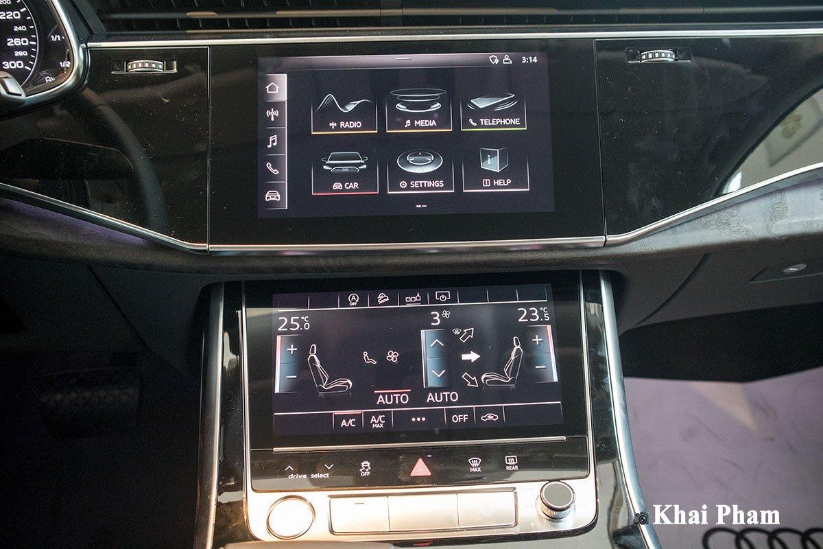 Ảnh màn hình xe Audi Q7 2020 DƯỚI THẤP