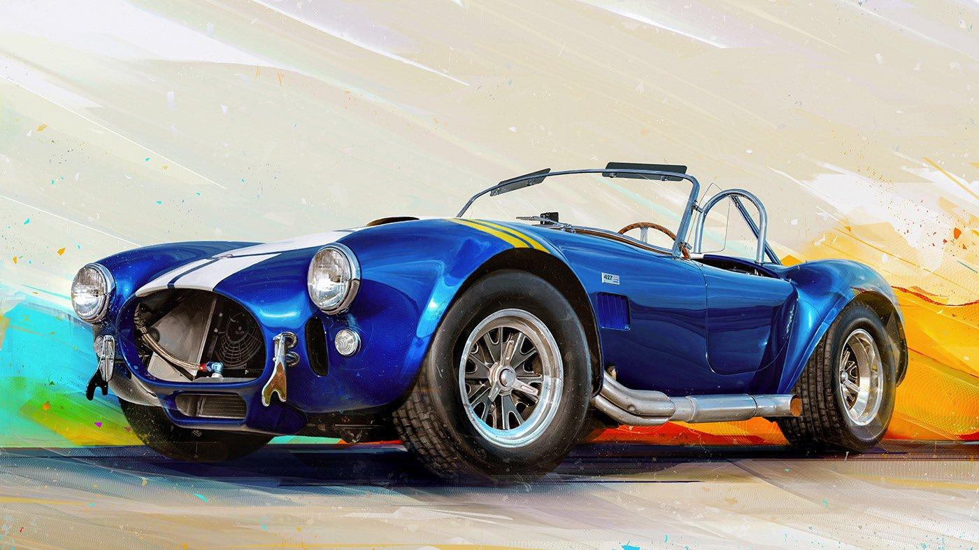 Ngắm những mẫu xe ô tô cổ dưới dạng tranh kỹ thuật số.