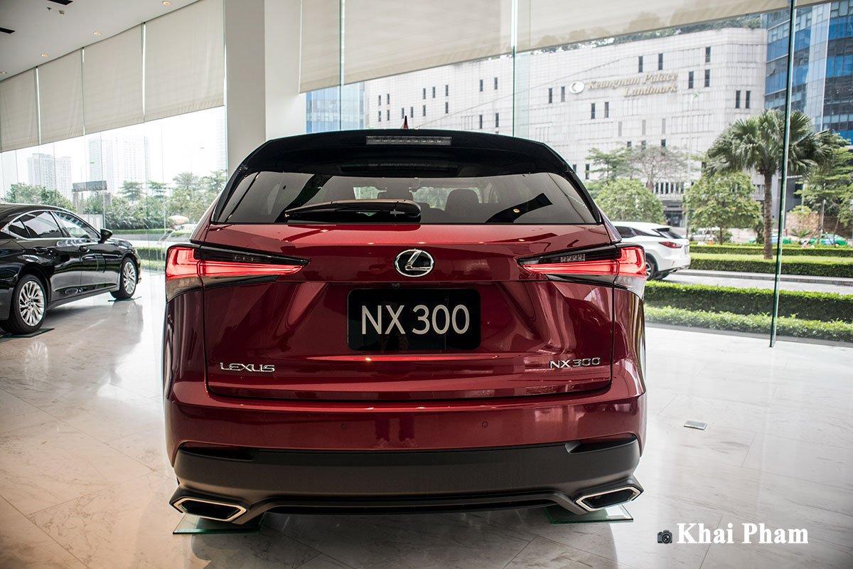 Ảnh chính diện đuôi xe Lexus NX 300 2020