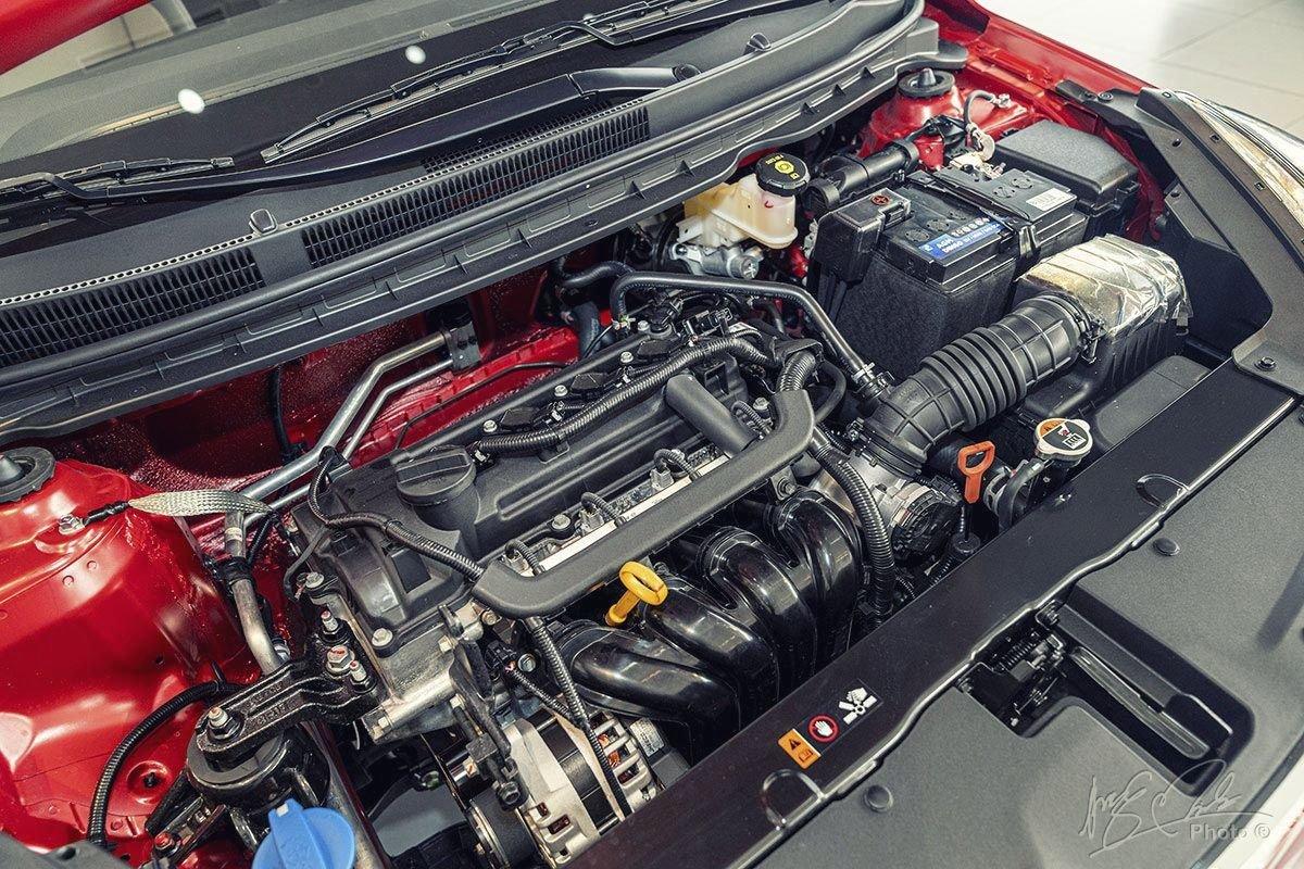 Đánh giá xe Kia Soluto AT Luxury 2020: Động cơ Kappa 1.4L.