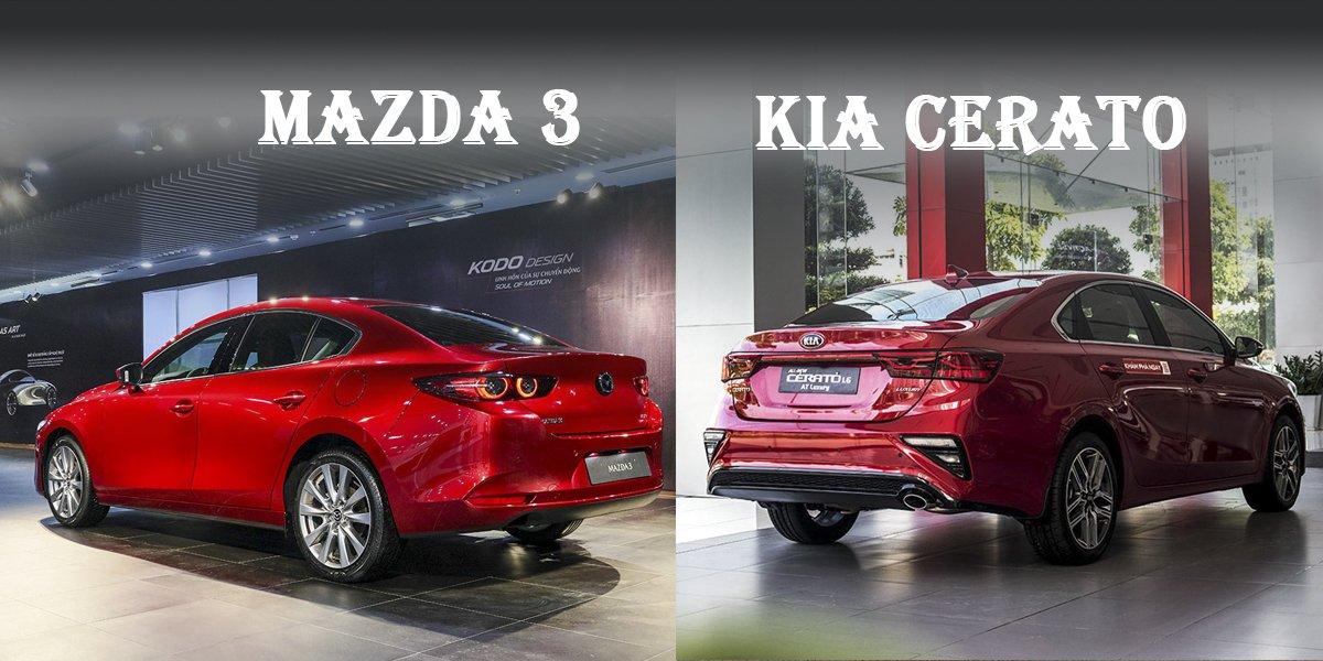 """So sánh xe Mazda 3 2020 và Kia Cerato 2020: """"Ngôi vương"""" dần đổi chủ a1"""