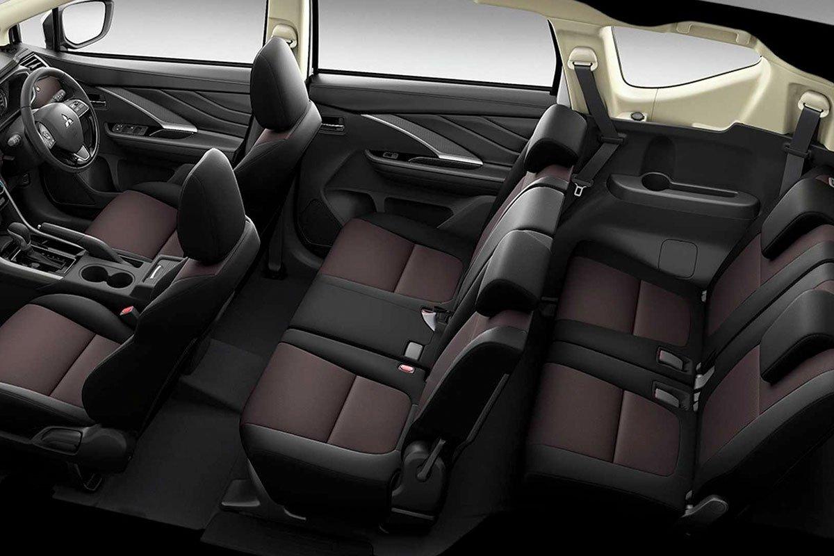Ảnh 3 hàng ghế xe Mitsubishi Xpander Cross 2020