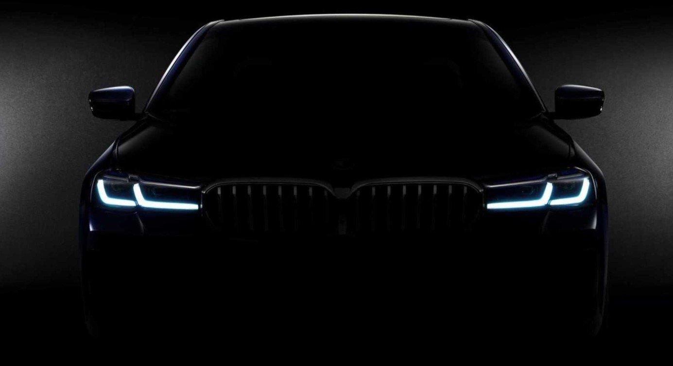 Ảnh teaser BMW 5-Series2021 facelift sắp lộ diện....