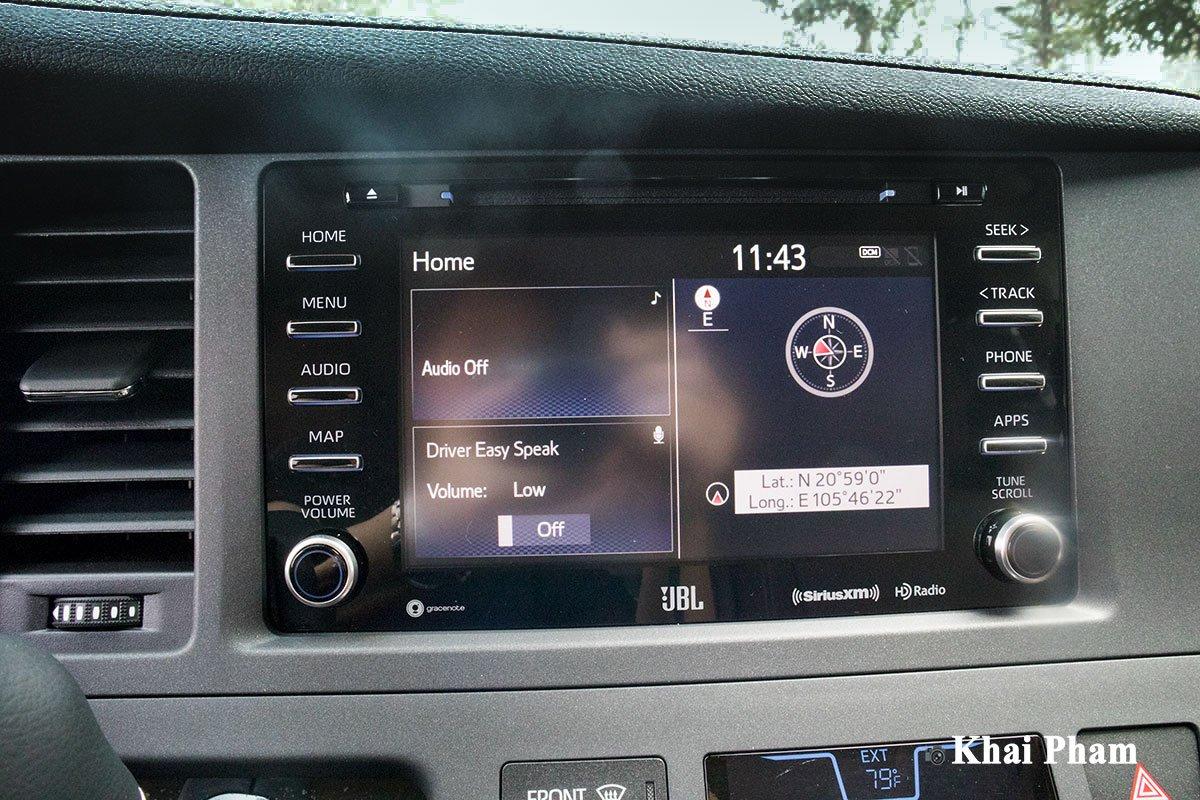 Ảnh màn hình xe Toyota Sienna 2020