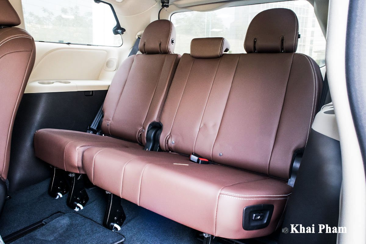 Ảnh ghế cuối xe Toyota Sienna 2020