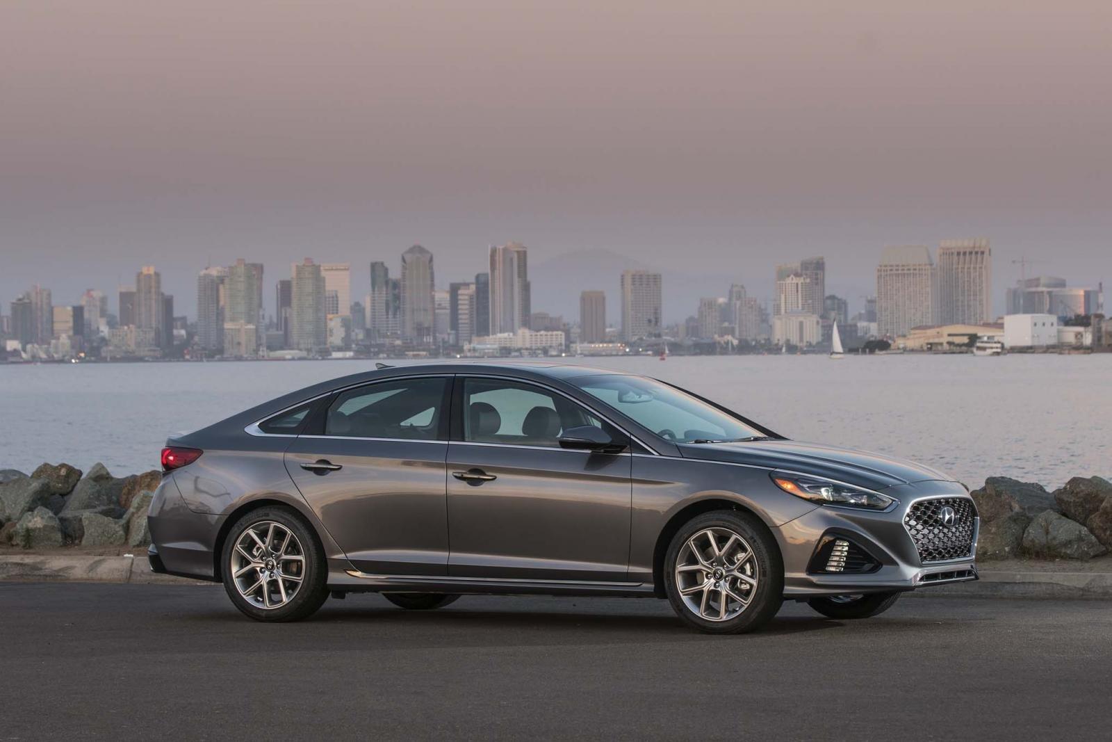 Ngoại thất xe Hyundai Sonata 2018
