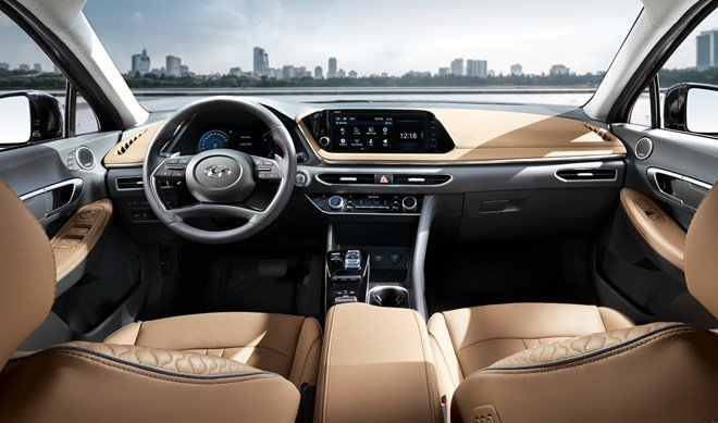 Nội thất xe Hyundai Sonata 2018