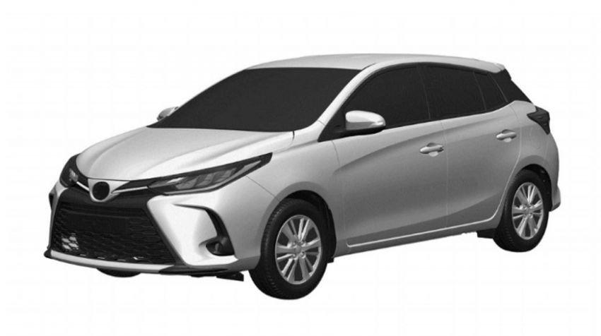 Toyota Yaris 2021 facelift lộ ảnh thiết kế.