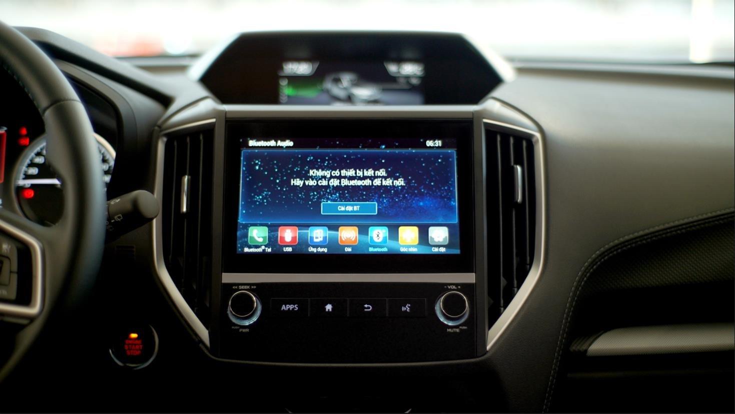 Màn hình cảm ứng tích hợp Android Auto và Apple CarPlay trên Subaru Forester GT Edition/