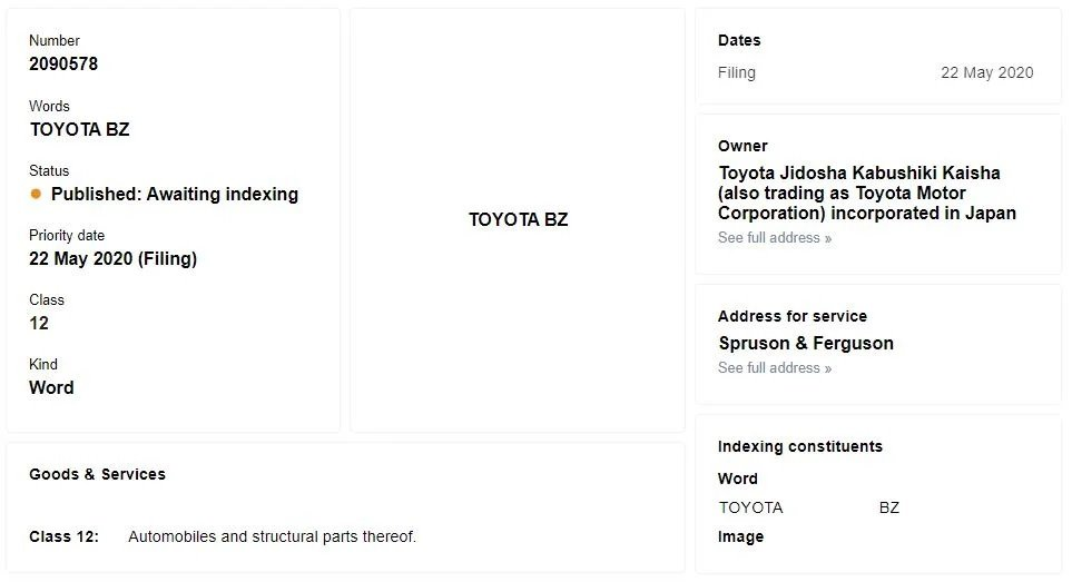 Thương hiệu Toyota BZ mới đầy bí ẩn.