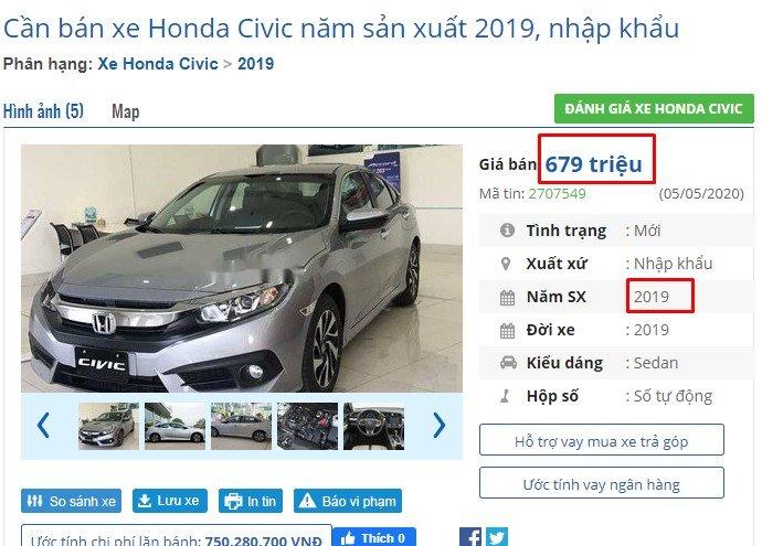 Những chiếc Honda Civic giảm giá mạnh chủ yếu là xe đời cũ a2