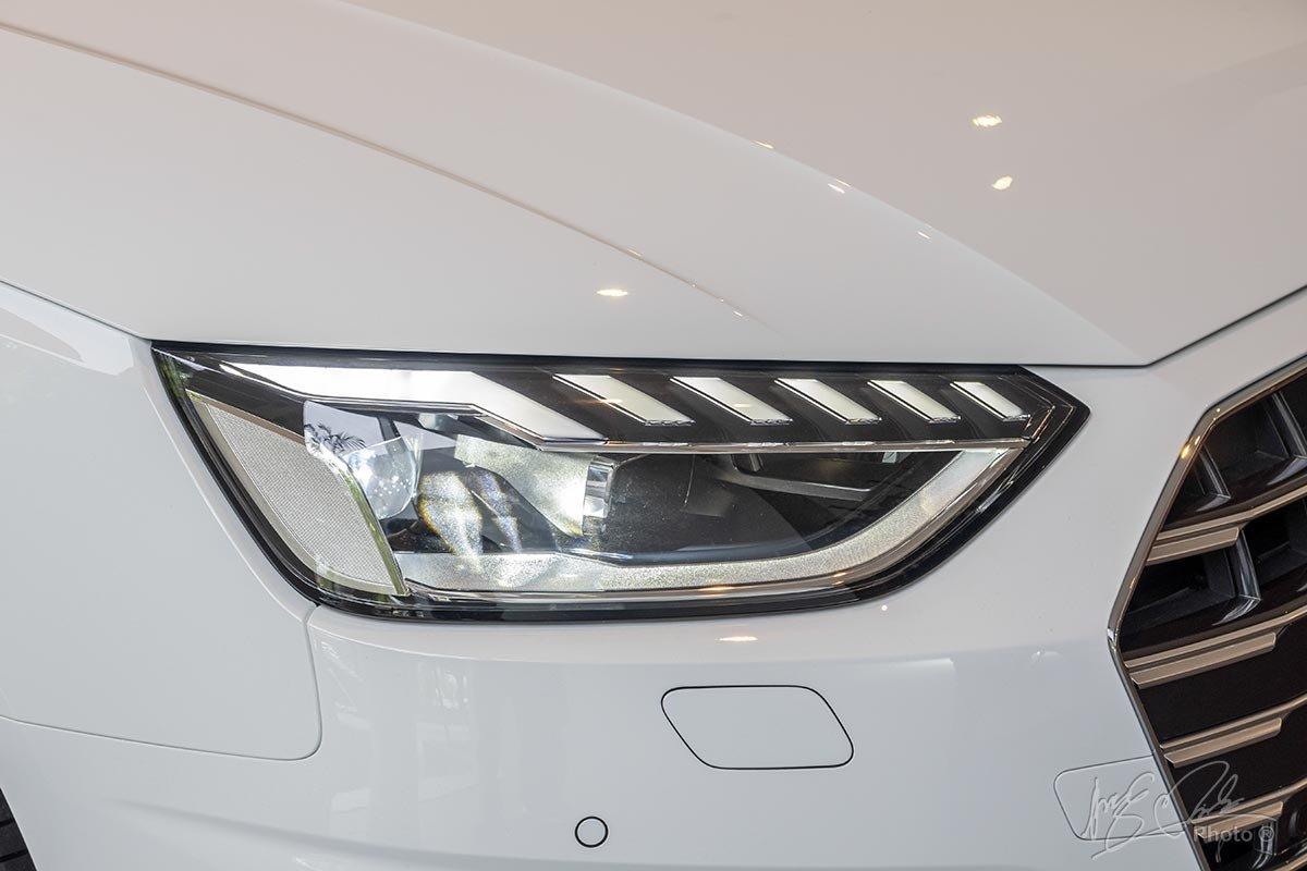 Đánh giá xe Audi A4 2020: Cụm đèn pha FullLED chưa phải là Matrix LED.
