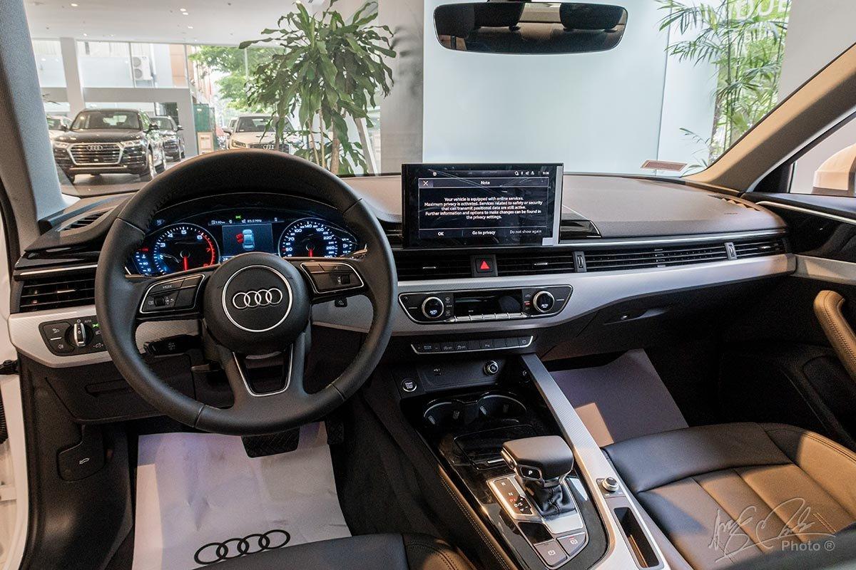 Đánh giá xe Audi A4 2020: khoang nội thất chỉ có một vài thay đổi nhỏ.