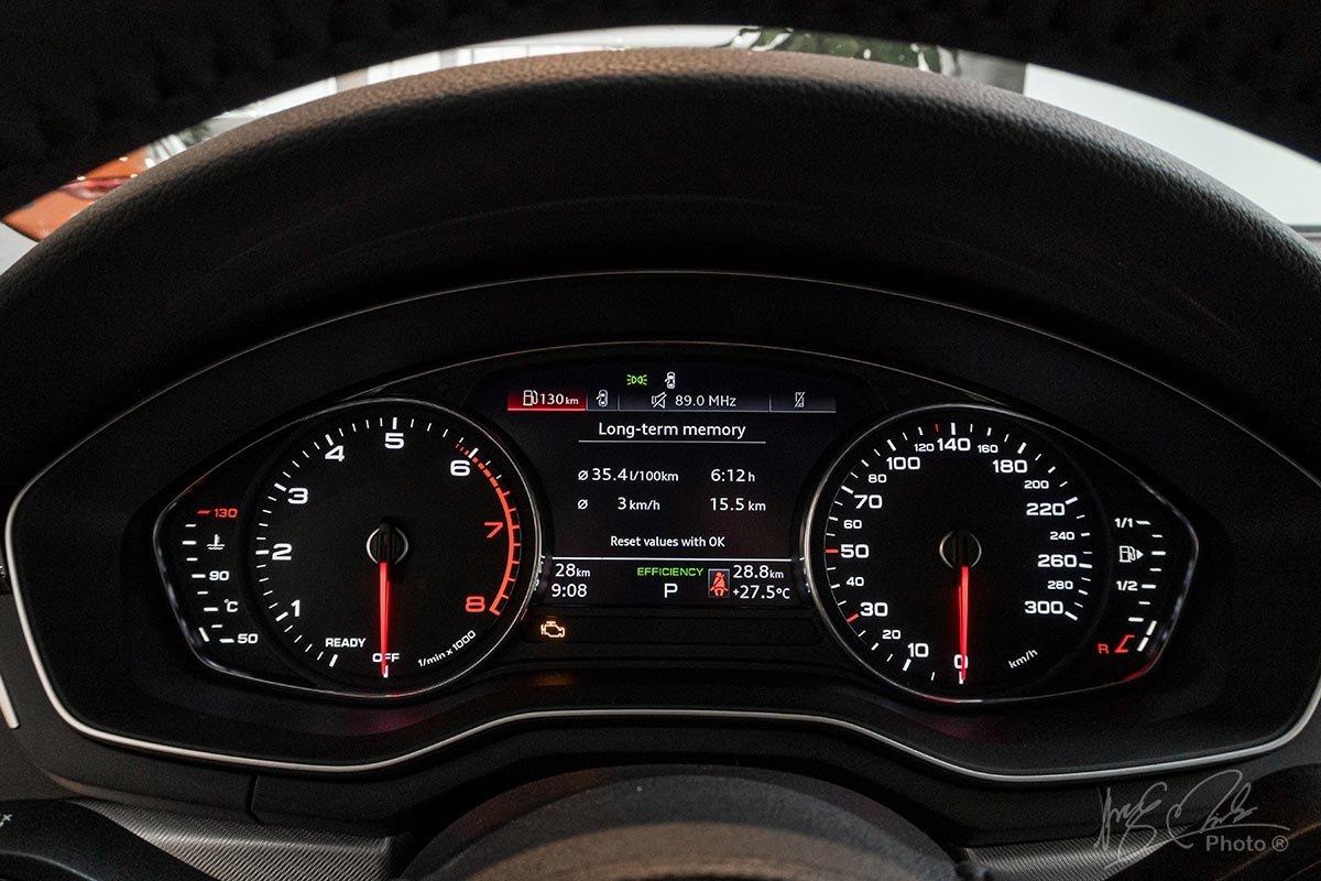 Đánh giá xe Audi A4 2020: Bảng đồng hồ dạng analog nhưng có thể nâng cấp thành màn hình kỹ thuật số Virtual Cookpit.