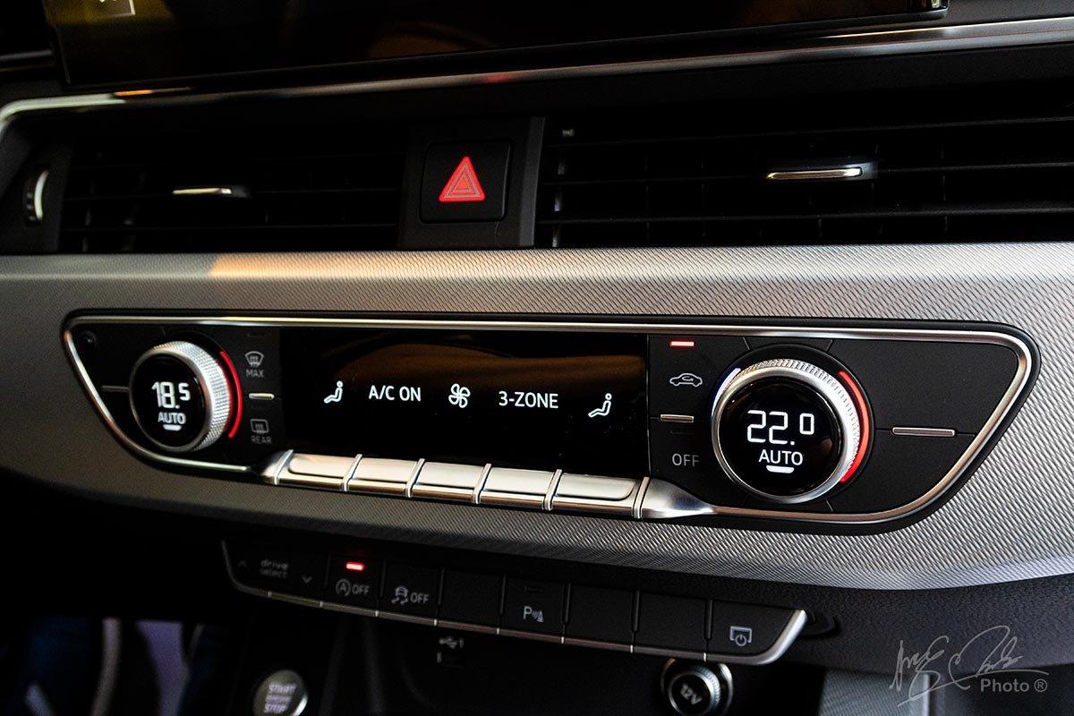 Đánh giá xe Audi A4 2020: Điều hoà tự động 3 vùng độc lập.