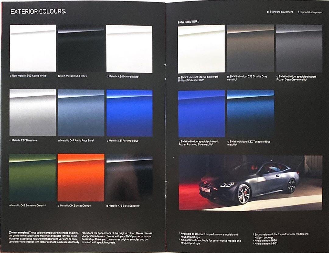 BMW 4-Series 2021 rò rỉ hình ảnh Brochure trước giờ G - Ảnh 1.