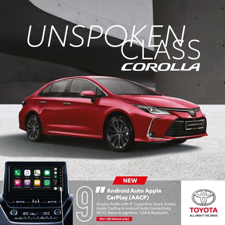 Toyota Corolla Altis 2020 sử dụng màn hình giải trí đến 9 inch, kết nối Android Auto vàApple CarPlay...