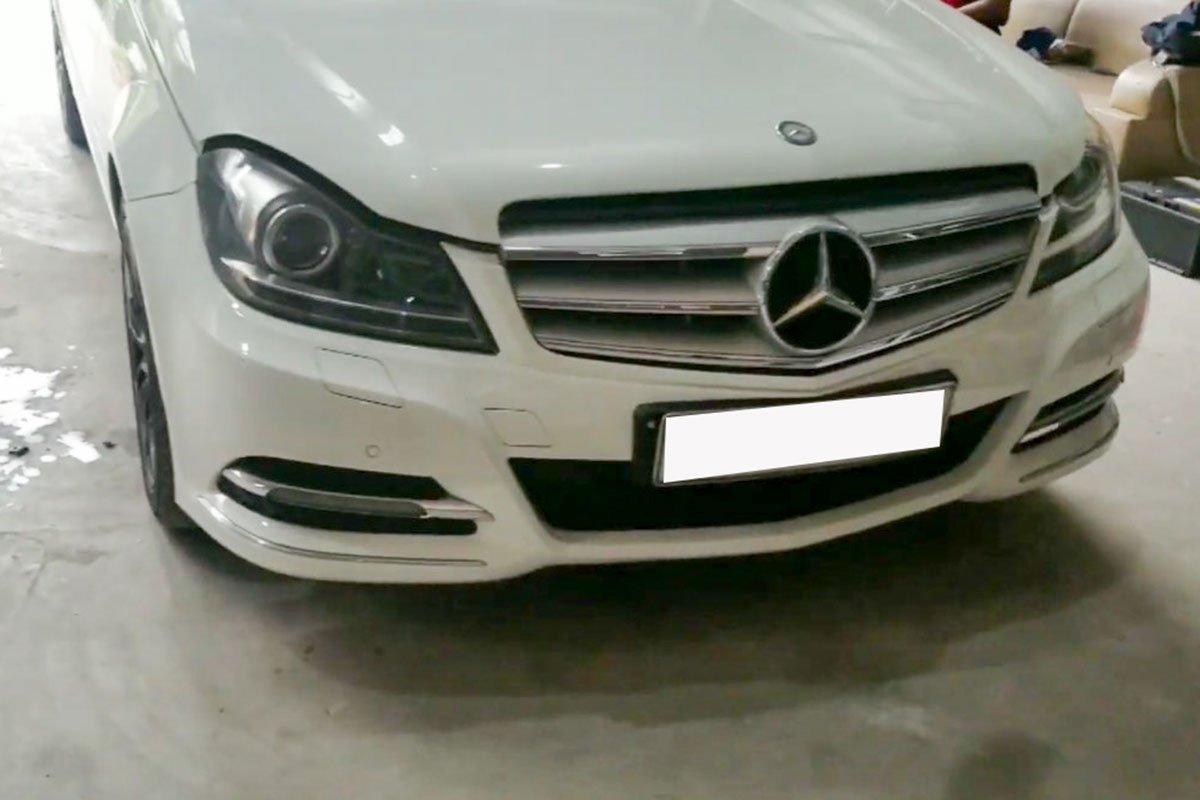 """Hơn 2 tháng thi công và 200 triệu đồng, Mercedes-Benz C 300 đời """"ơ kìa"""" biến thành xe thể thao cực ngầu 1"""