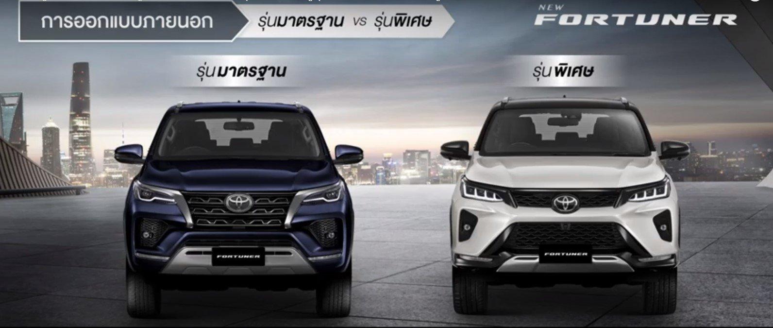 So sánh Toyota Fortuner 2021 bản tiêu chuẩn và bản Legender - Ô tô ...