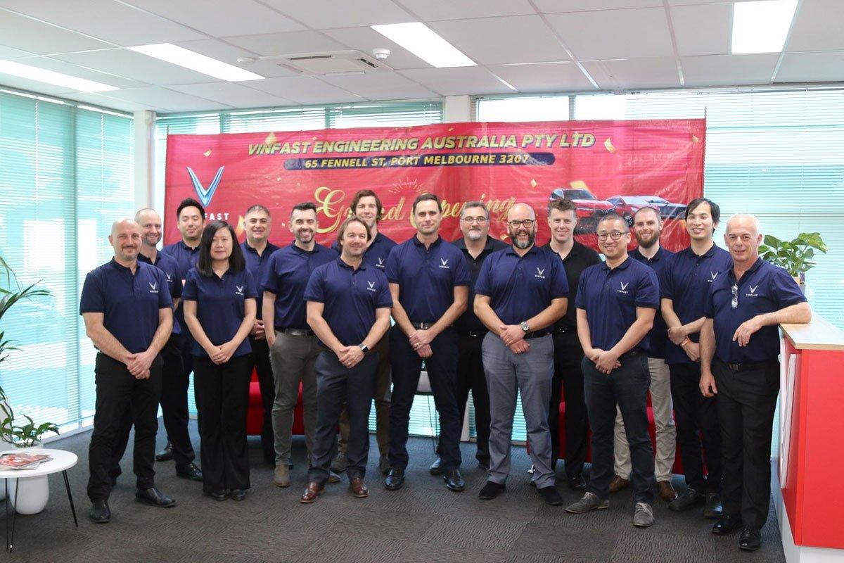 Đội ngũ nhân sự của VinFast Australia.