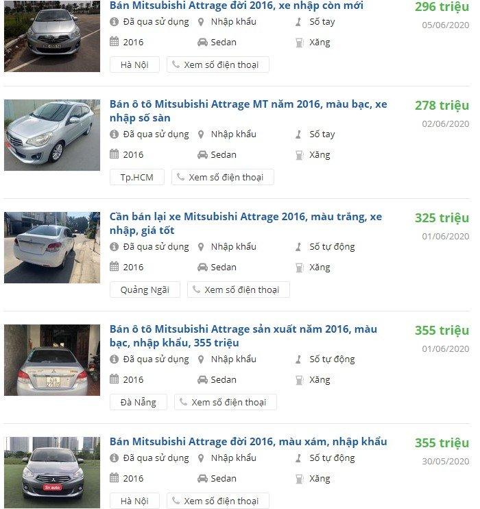 Mitsubishi Attrage đời 2016