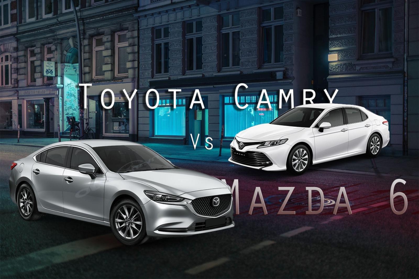 So sanh xe Mazda 6 2020 va Toyota Camry 2020 Cuoc so ke hap dan nhat phan khuc hang D