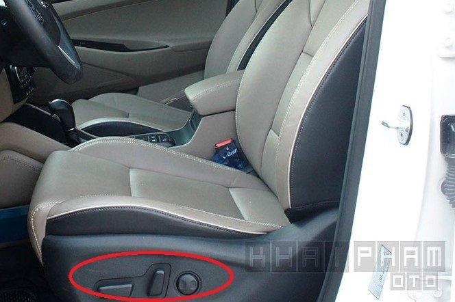 Nút điều chỉnh ghế trên xe Hyundai Tucson 1