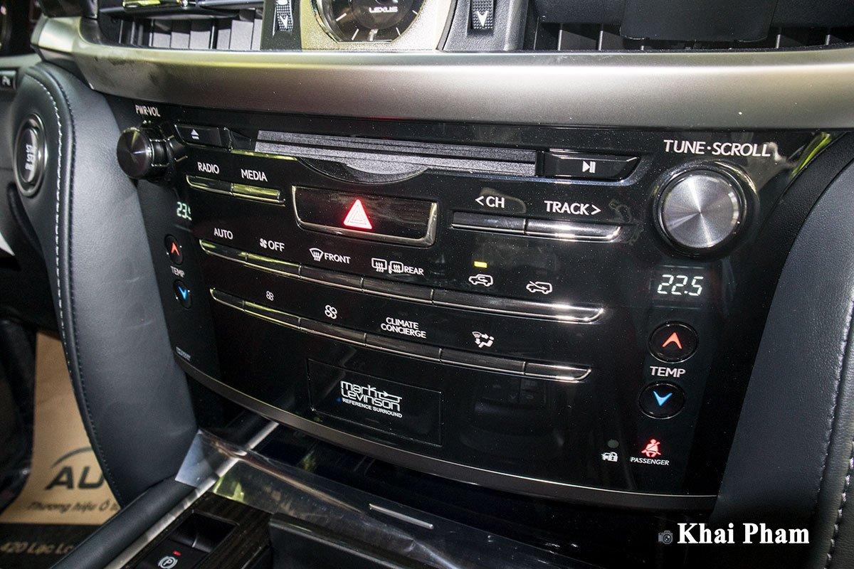 Ảnh cụm điều hoà xe Lexus LX 570 Super Sport Black Edition 2020