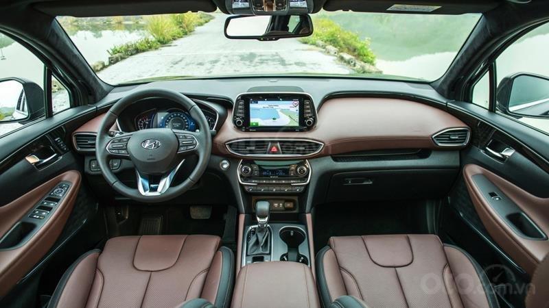 Hyundai Santa Fe 2.2 dầu cao cấp 2020, ưu đãi lớn, giao xe ngay (4)