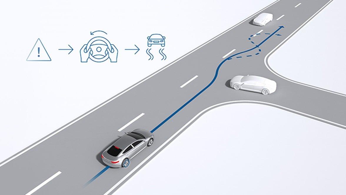 Tính năng kiểm soát lực kéo giúp người lái lấy lại quyền điều khiển nhanh hơn.
