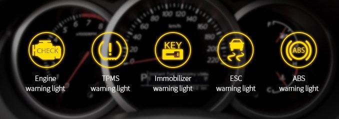 Tay lái cần chú ý đến đèn báo hiệu tình trạng xe.