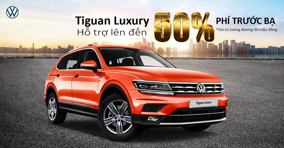 Volkswagen Tiguan Allspace Luxury giảm 50% lệ phí trước bạ, duy nhất trong tháng 7 1