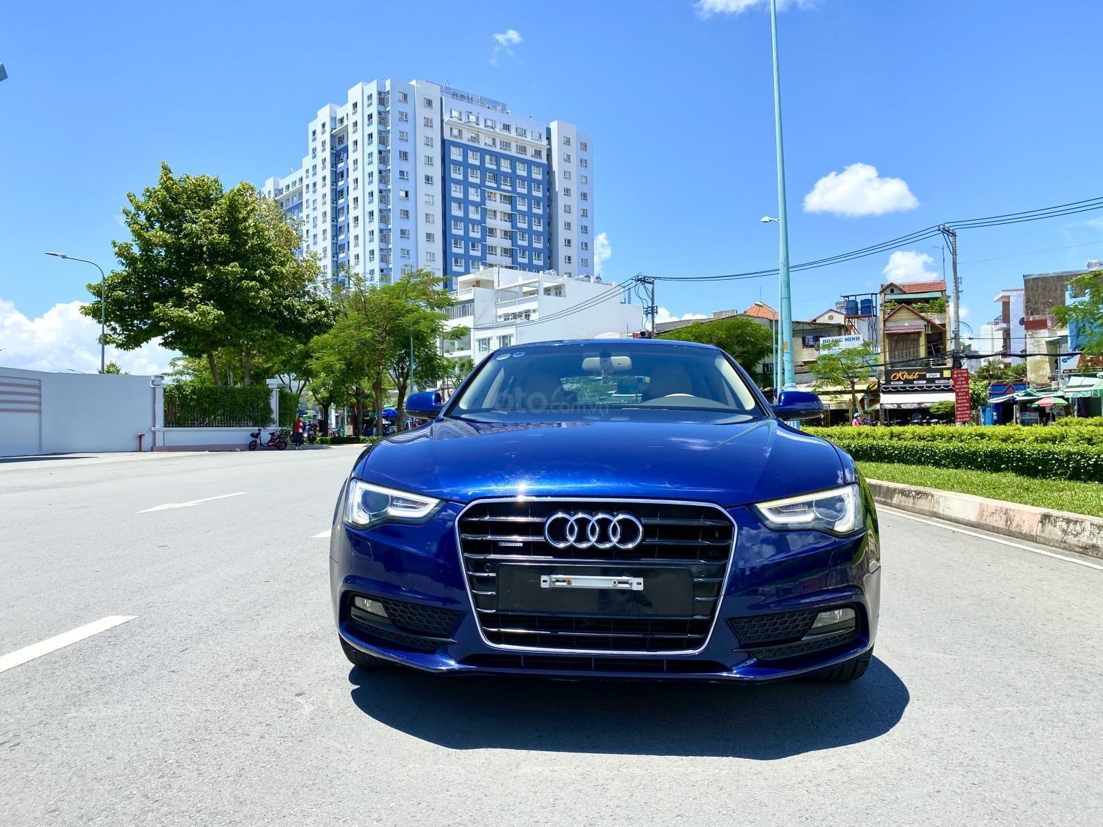 Audi A5 nhập Đức 2015 màu xanh zin, full và độ vào rất nhiều đồ chơi cao cấp, số tự động 6 cấp, nội thất kem (5)