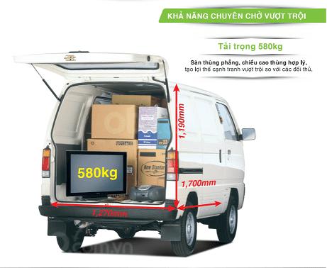 Bán xe tải Van xe tải cóc Suzuki Blind Van 2020 không cấm phố (9)