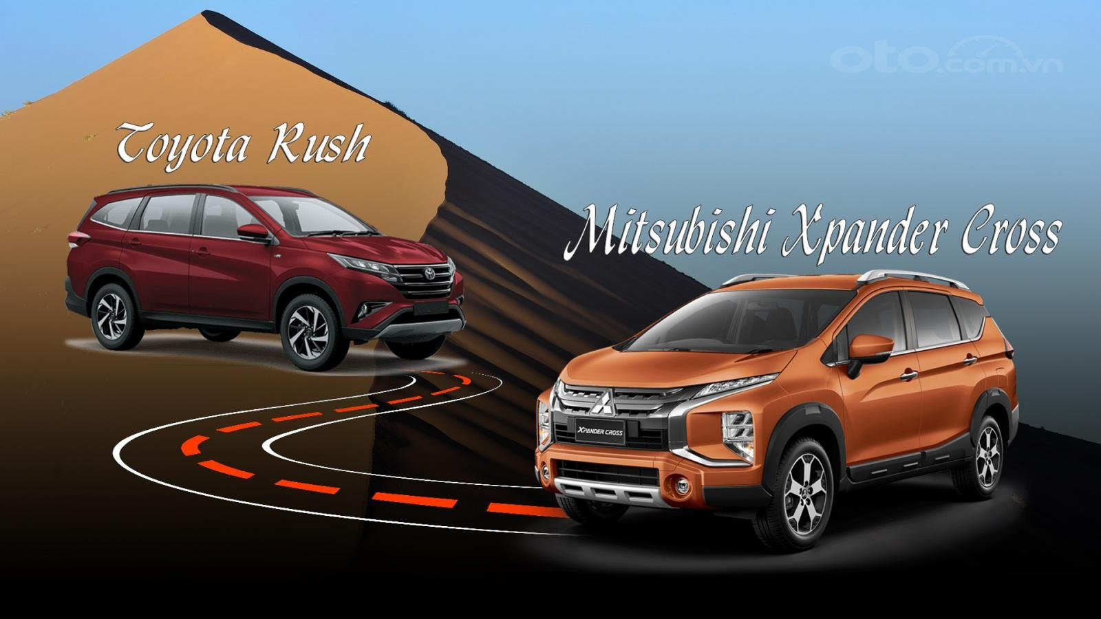 So sánh xe Mitsubishi Xpander Cross 2020 và Toyota Rush 2020: a1