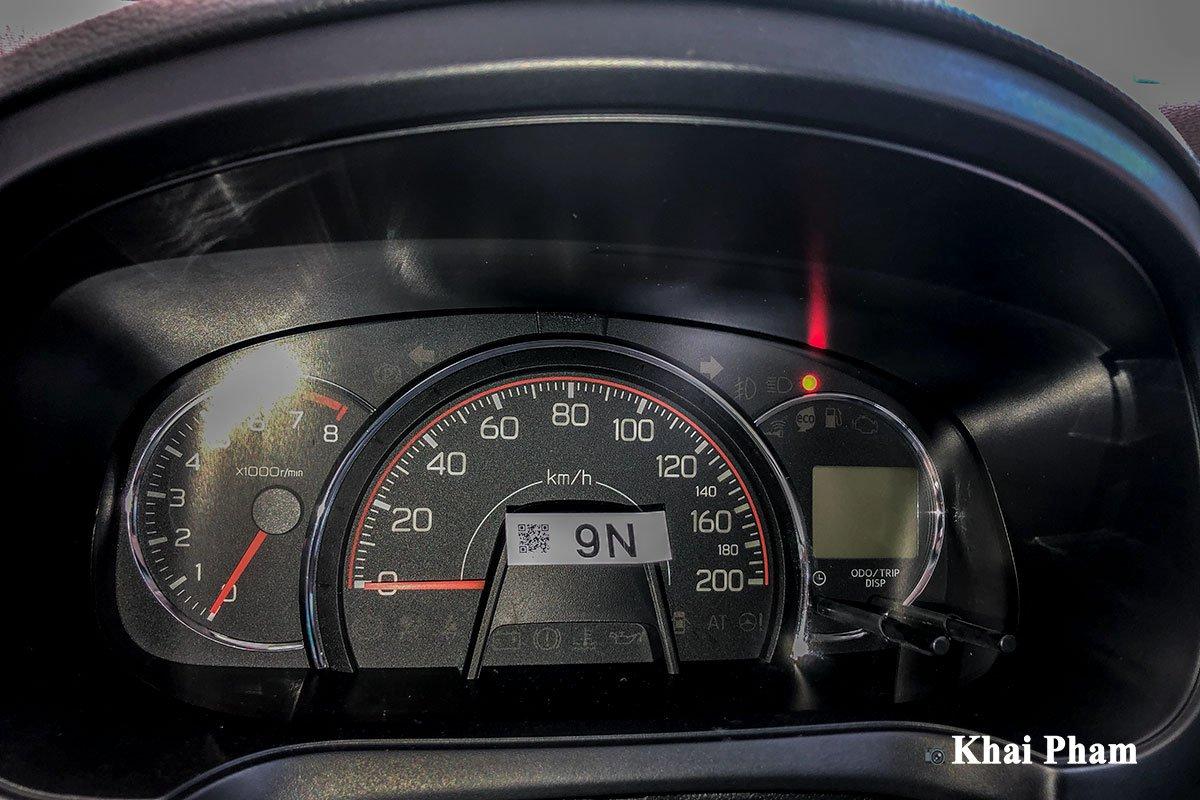 Ảnh cụm đồng hồ xe Toyota Wigo 2020