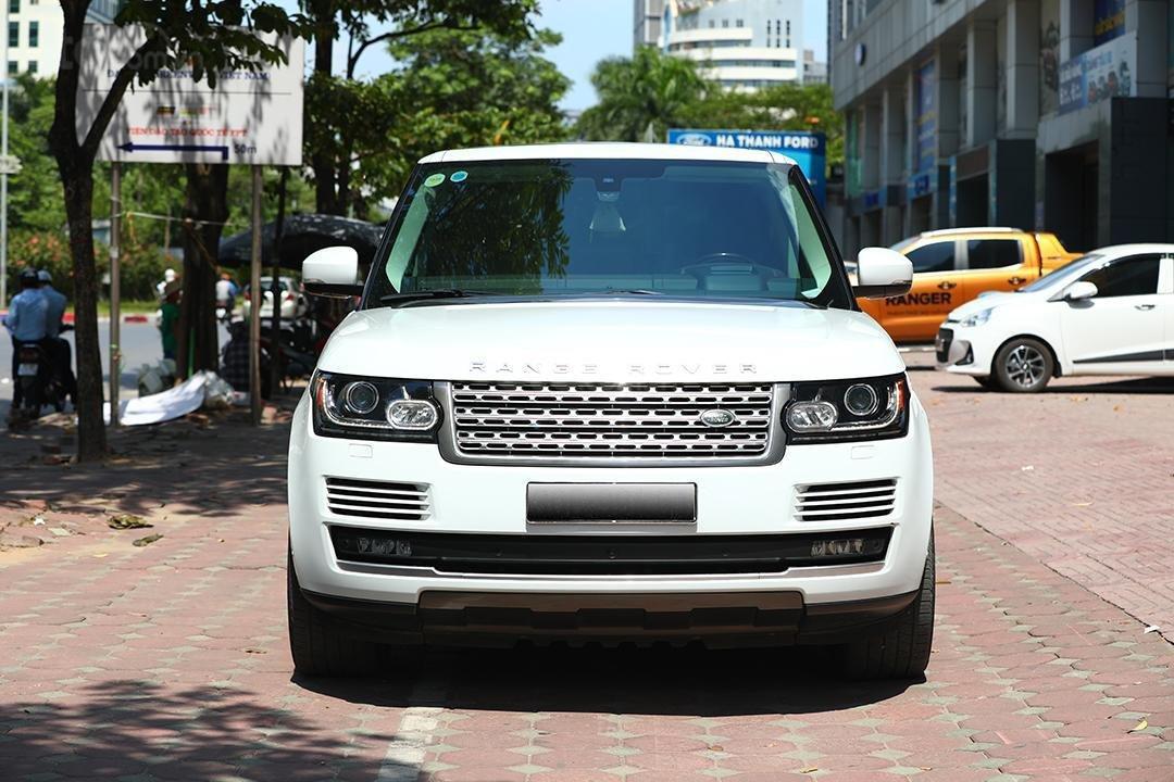 Bán LandRover HSE sản xuất 2016 màu trắng, nội thất nâu (1)