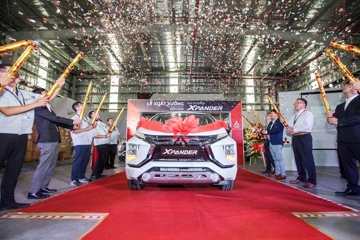 lễ xuất xưởng mẫu xe Mitsubishi Xpander 2020 được sản xuất lắp ráp trong nước tại nhà máy ở Bình Dương.