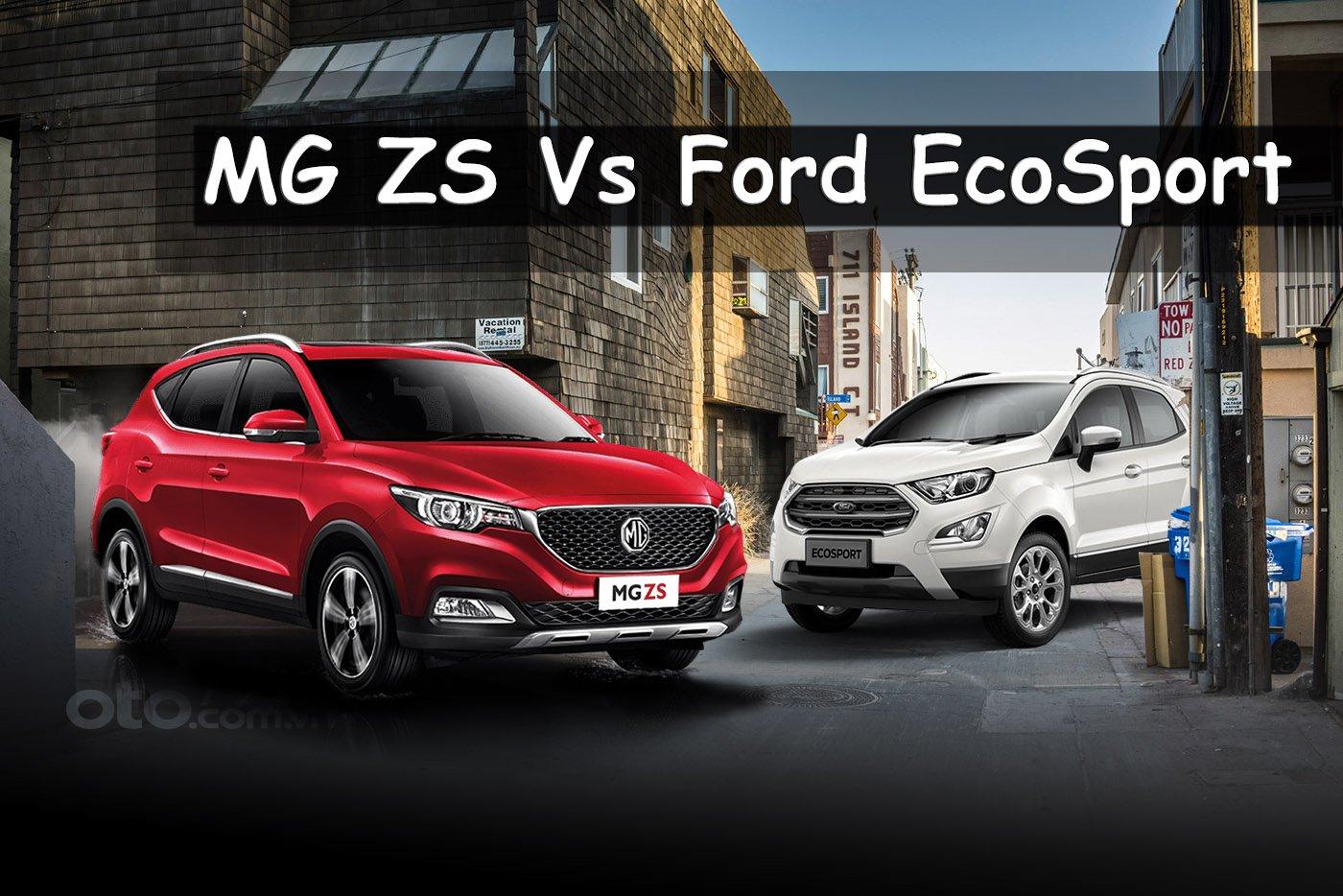 So sanh xe MG ZS 2020 va Ford EcoSport 2020 Tan binh doi dau gia gan