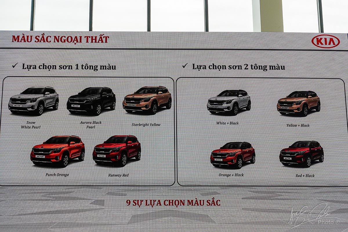 Các màu sắc ngoại thất dành cho Kia Seltos 2020 tại thị trường Việt Nam.