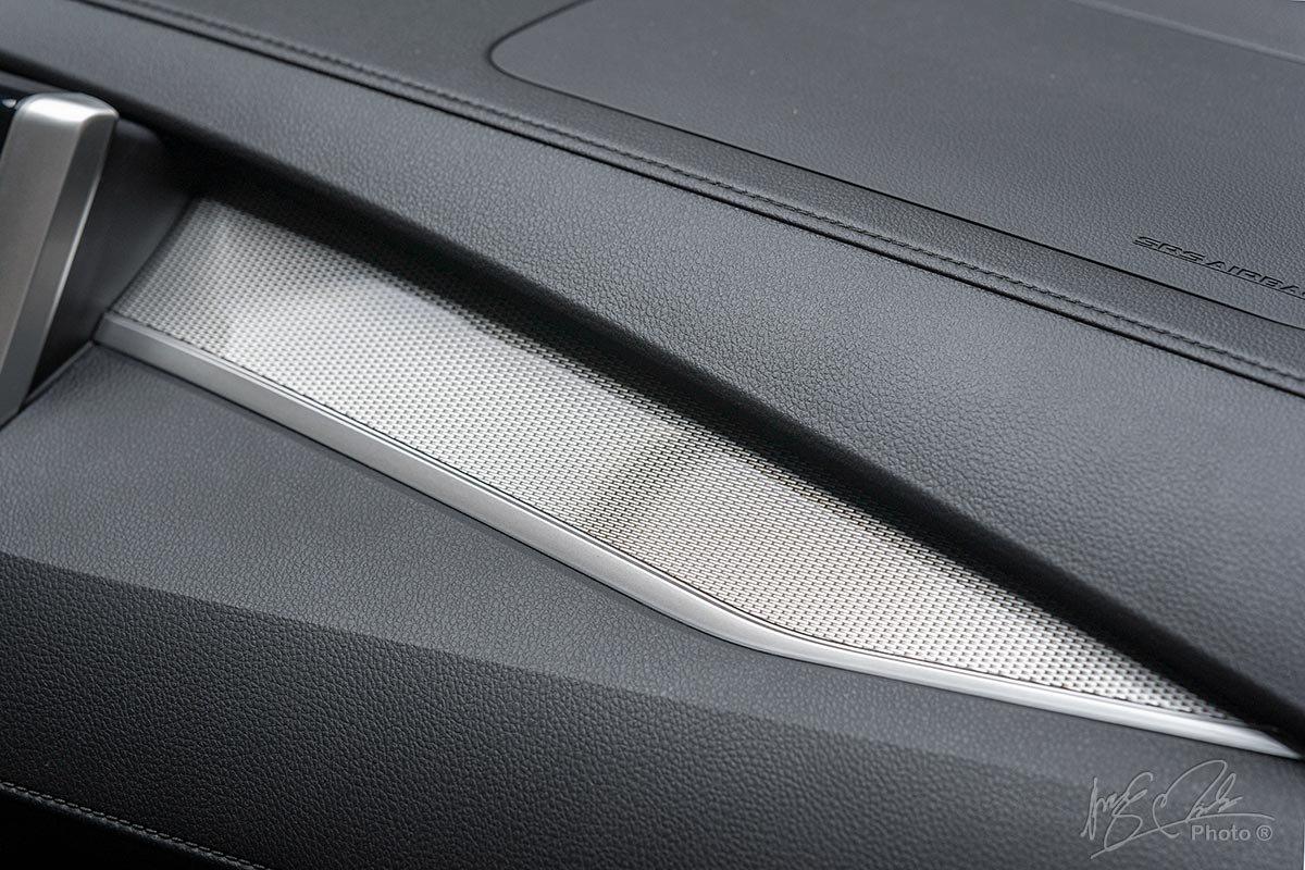 Đánh giá xe Mitsubishi Xpander 2020: Chi tiết trang trí giả vân carbon.
