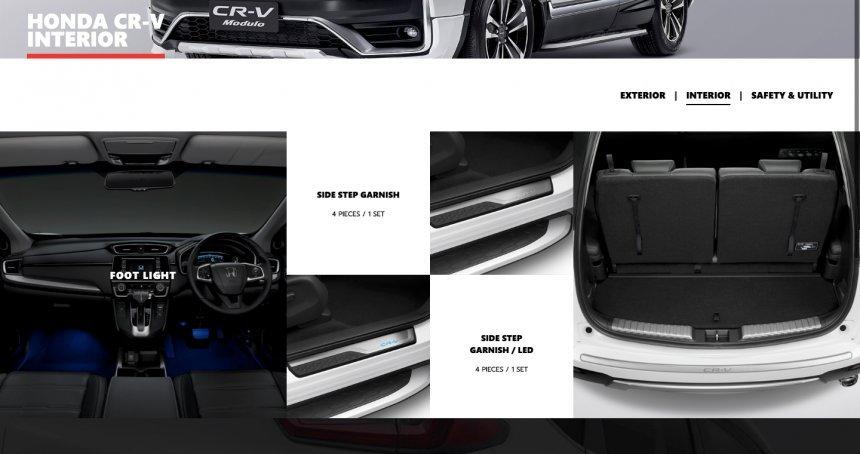 Honda CR-V Modulo 2021 bổ sung các chi tiết trang trí bắt mắt.