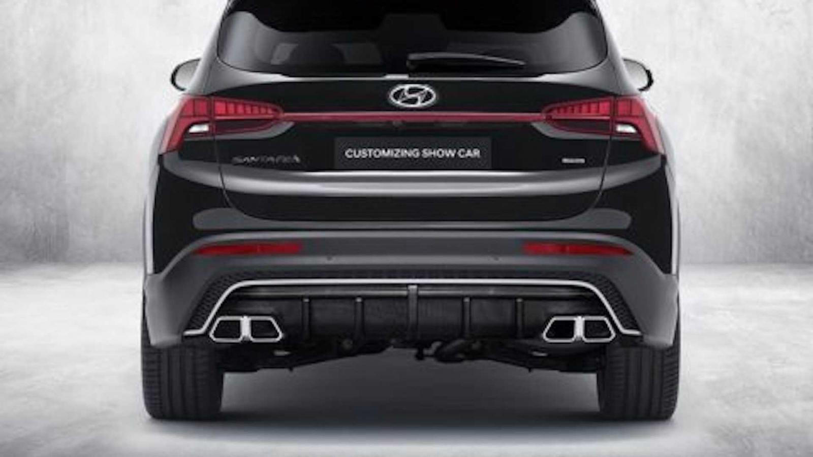 Hyundai Santa Fe N Performance nâng tầm trang bị.