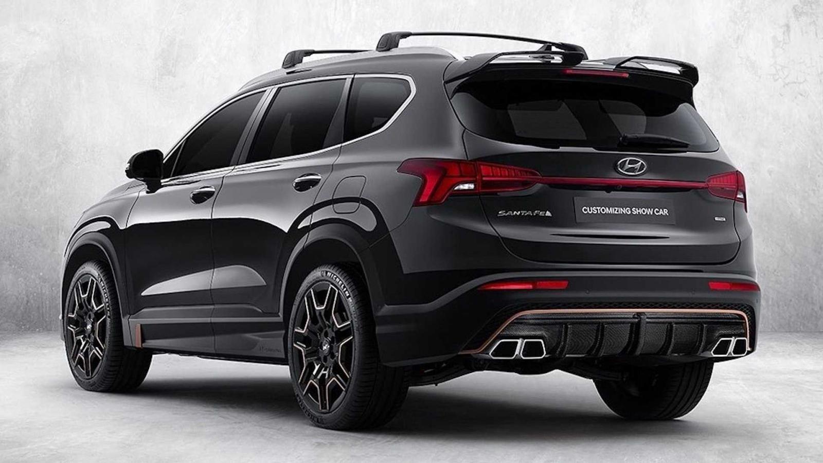 Hyundai Santa Fe N Performance sang trọng hơn nữa.