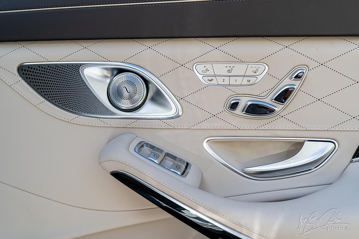 Hệ thống âm thanh Burmester trên Mercedes-Maybach S450 2020.