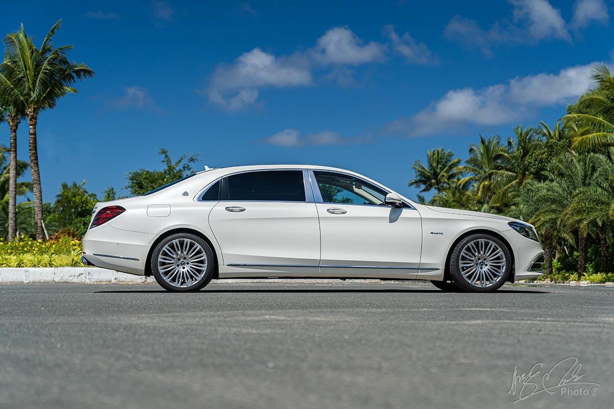 Thiết kế thân xe Mercedes-Maybach S450 2020.