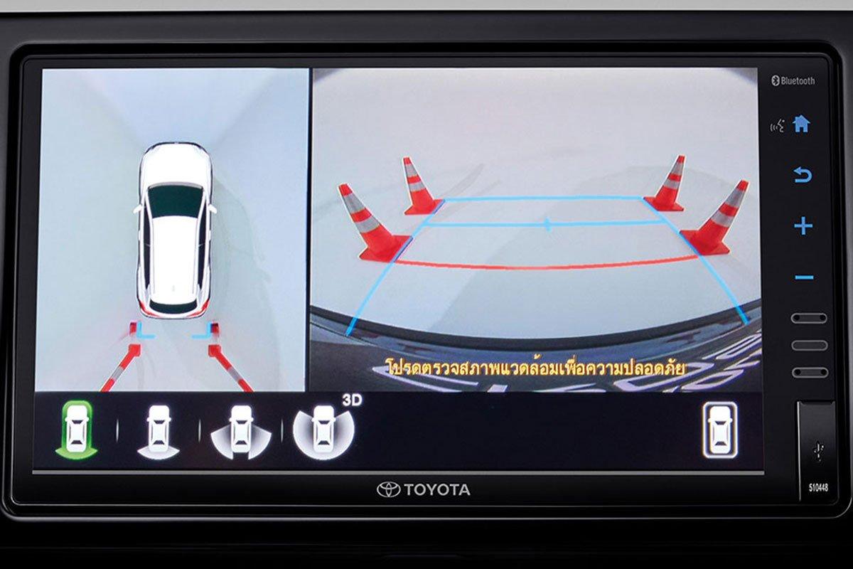 Đánh giá xe Toyota Corolla Cross 2020-2021: Camera toàn cảnh 360 độ.
